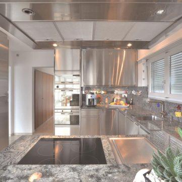 Designerküche aus Edelstahl