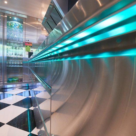 Detailaufnahme Edelstahl Küche