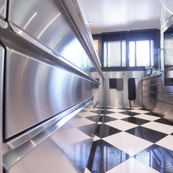 Edelstahl Designer Küche