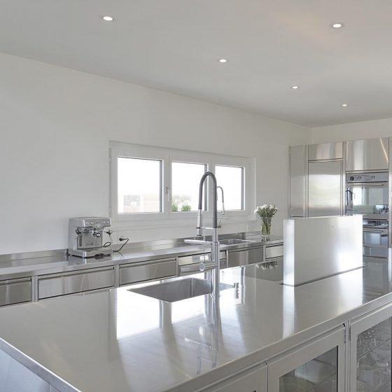 Edelstahlküche Haus Design