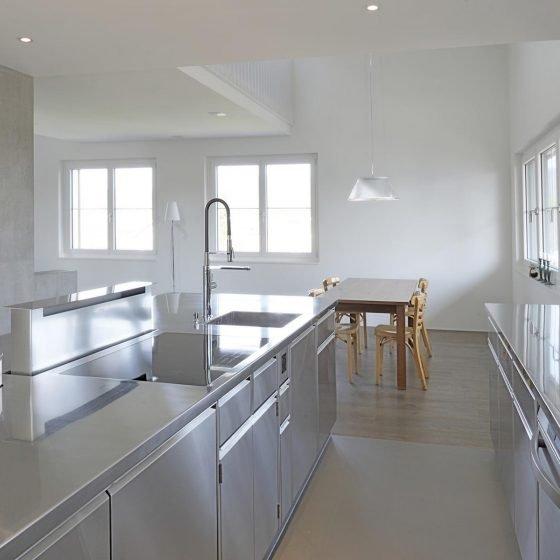 Indoor Küche Edelstahl Design