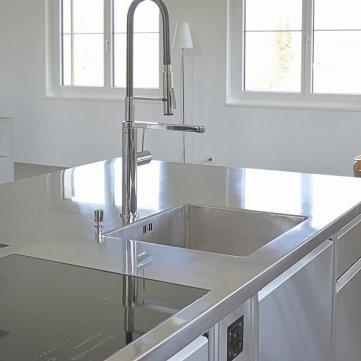 Indoorkitchen Edelstahl Design