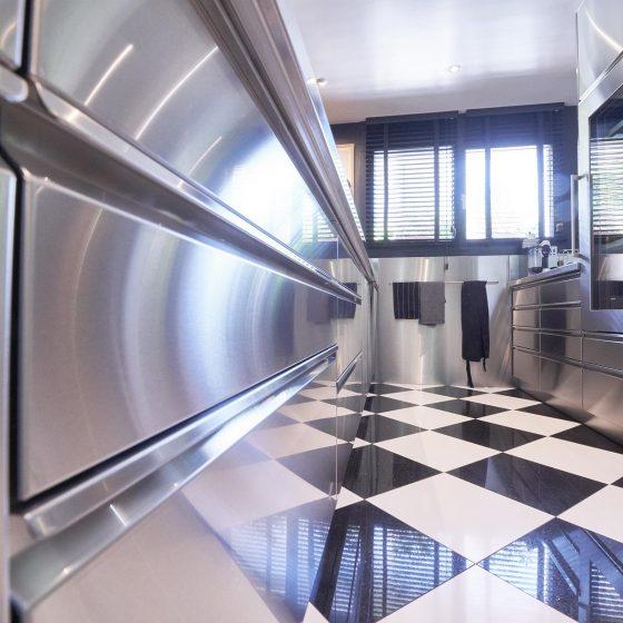 Innenküche Edelstahl