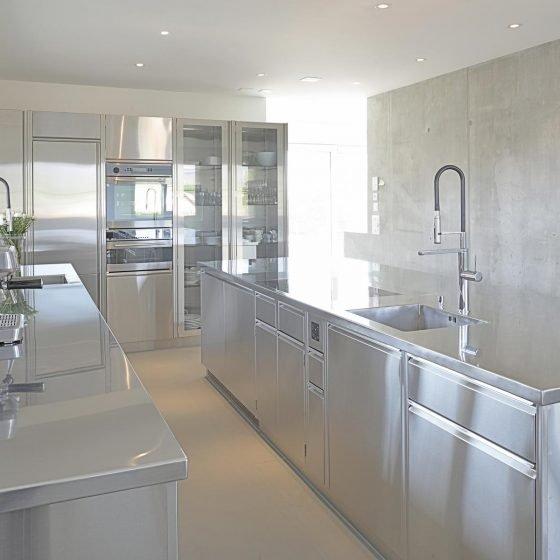 Innenküche Edelstahl Designer
