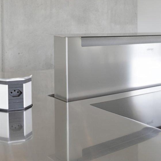 Innenküche Edelstahl Designerküche