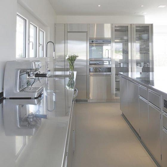 Küche Innen Edelstahl