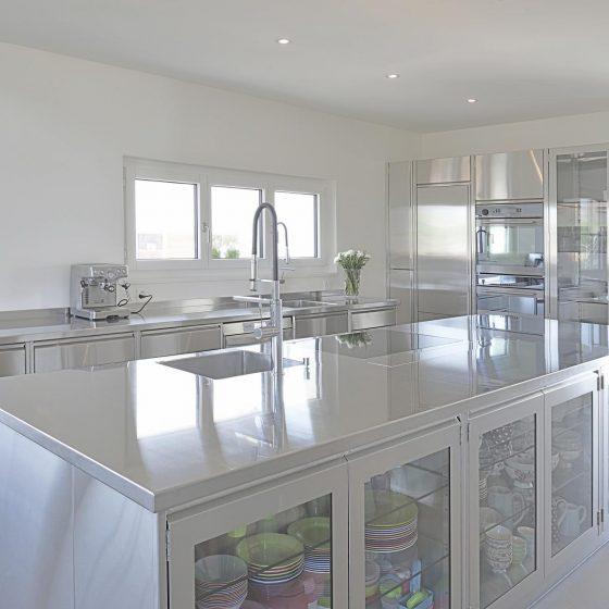 Küche Privat Edelstahl Beispiel