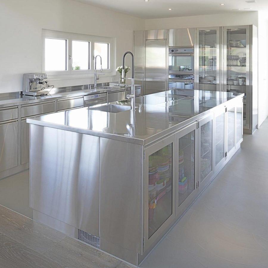 Privat Indoor Küche Edelstahl