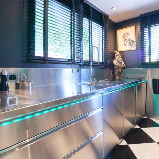Private Edelstahl Küche